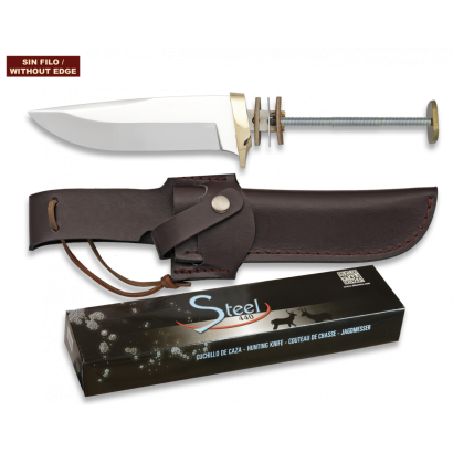 Cuchillo espiga. Total 23.8 cm. C/Funda