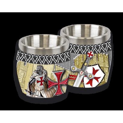 vaso chupito resina templario Knight