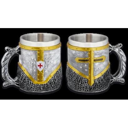 taza resina Templaria Cota de Malla