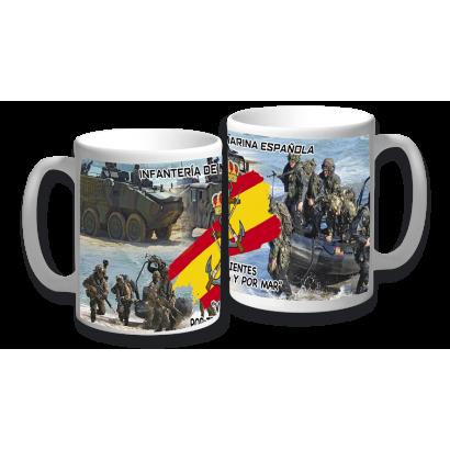 taza ceramica Infanteria de Marina.