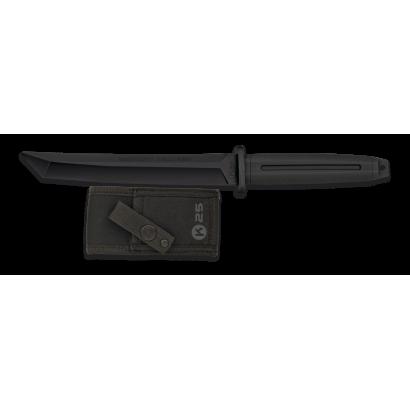 Cuchillo k25 entrenamiento negro. 19.3