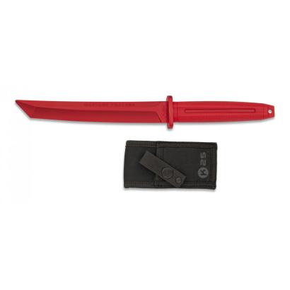 Cuchillo K25 Entrenamiento rojo. H: 19.3