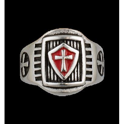 Anillo Templarios escudo. Talla: 22  ø