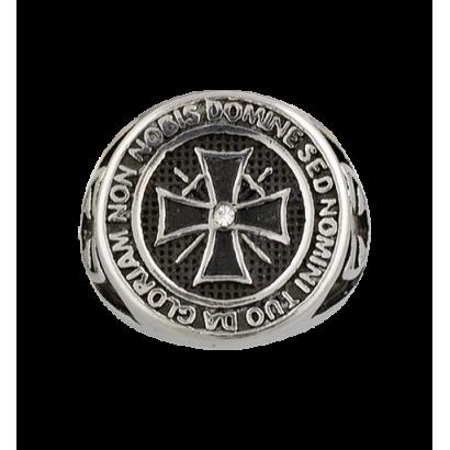 Anillo Templarios cruz . Talla: 22  ø