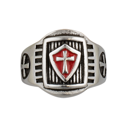 Anillo Templarios escudo. Talla: 20   ø