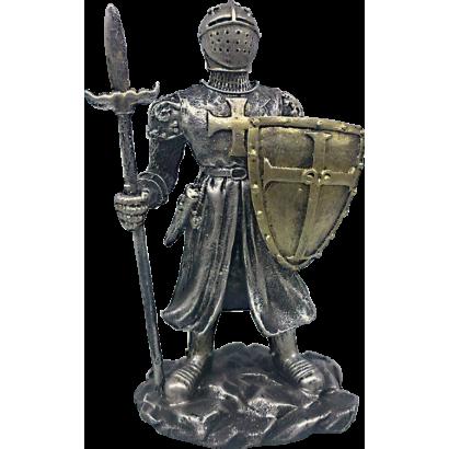 Figura resina Templario con escudo y lan