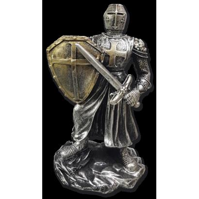 Figura resina  Templaria ( escudo-espada