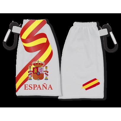 Portamascarilla reversible España blanca