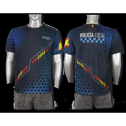 Camiseta Sublimación Barbaric Policia Lo