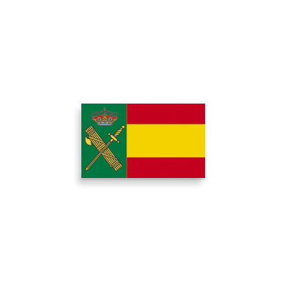 Pegatina Gota Cera España Guardia Civil
