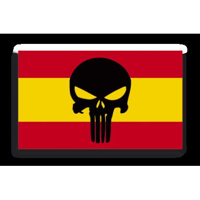 Pegatina Gota Cera España Calavera Med