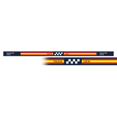 pulsera Policia Local 33 x 1.4 cm (6 pz)