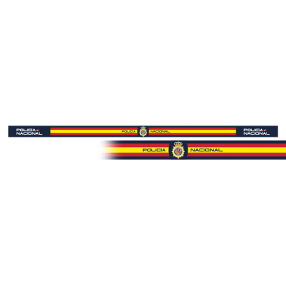 pulsera Policia Nac.l 33 x 1.4 cm (6 pz)
